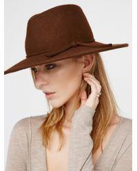 Free People | Brown Matador Hat | Lyst