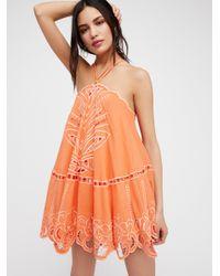 Free People | Orange Met You In Summer Dress | Lyst
