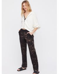 Free People   Black Milan High Waisted Trouser Pant   Lyst