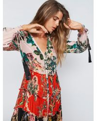 Free People Pink Mixed Floral Maxi Dress