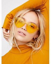 Free People Orange Modern Cuff Layering Top