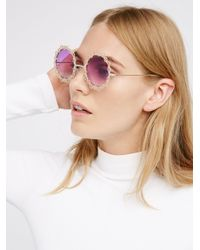 Free People | Pink Moonlight Magic Sunglass | Lyst