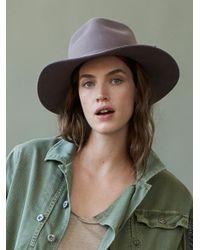 Free People | Gray Morrison Felt Hat | Lyst