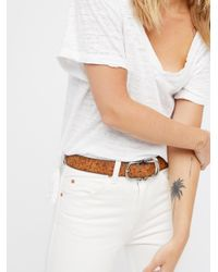 Free People - Brown Most Wanted Leather Belt - Lyst
