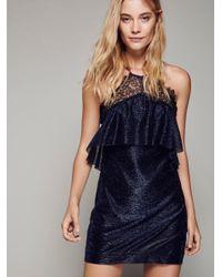 Free People   Black Night Sky Mini Dress   Lyst