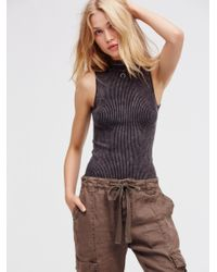 Free People   Black No Looking Back Washed Cami   Lyst