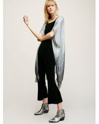 Free People | Blue Ombre Shimmer Kimono | Lyst