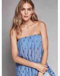 Free People Blue On My Mind Ruffle Maxi