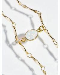 Free People - Metallic Opal Draped Delicate Choker - Lyst