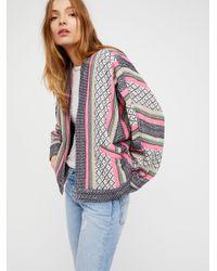 Free People | Multicolor Open Dolman Jacket | Lyst