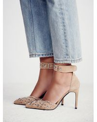 Free People - Blue Party Favor Studded Heel - Lyst