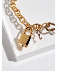 Free People - Metallic Pave Diamond Lock Choker - Lyst