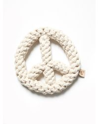 Free People - White Peace Sign Rope Dog Toy - Lyst