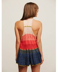 Free People - Blue Peplum Polo - Lyst