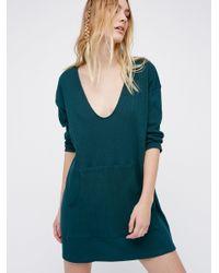 Free People | Blue Phoenix Mini Dress | Lyst