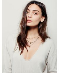 Free People - Natural Phoenix Mini Dress - Lyst