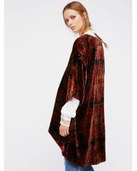 Free People | Multicolor Printed Velvet Kimono | Lyst