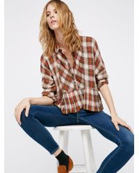 Free People | Multicolor Promise Everything Plaid Shirt | Lyst