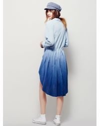 Free People | Blue Ray Of Light Extreme Buttondown | Lyst