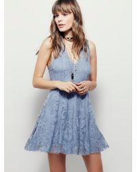 Free People | Blue Reign Over Me Sleeveless Dress | Lyst