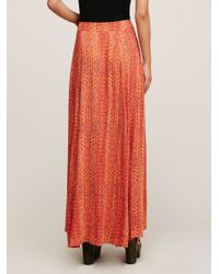 Free People - Red Remember Me Maxi Skirt - Lyst
