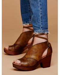 Free People | Brown Revolver Clog | Lyst