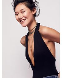 Free People | Metallic Ring Leader Metal Necklace | Lyst