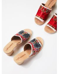 Free People | Multicolor Riviera Embroidered Mule | Lyst