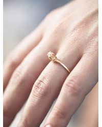 Free People - Yellow Rough Diamond Ring - Lyst