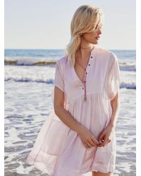 Free People | Pink Rowan Mini Dress | Lyst