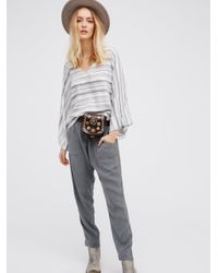 Free People | Gray Royal Pull On Pant | Lyst