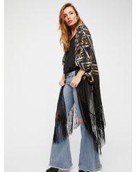 Free People | Black Ruby Soho Burnout Velvet Kimono | Lyst
