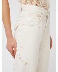 Free People - White Rugged Tapered Trouser - Lyst