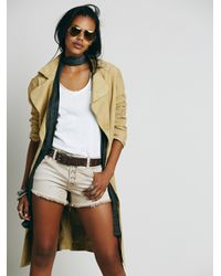 Free People | Brown Runaway Slouch Cut Off | Lyst