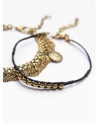 Free People - Black Sand Dancer Mixed Anklet - Lyst