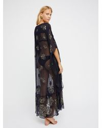 Free People Blue Sequins For Days Maxi Dress