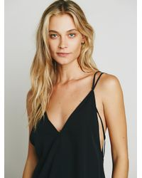 Free People - Black Serious Babe Romper - Lyst