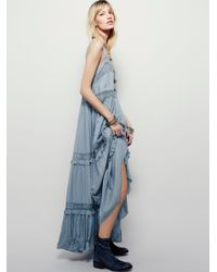 Free People | Blue Simply Peasant Slip | Lyst