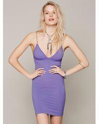 Free People | Purple Skinny Strap Bodycon | Lyst