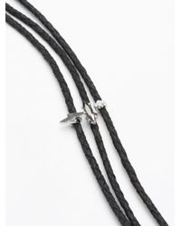 Free People | Black Skyline Triple Leather Choker | Lyst