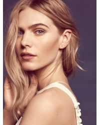 Free People - White Small Ear Hugging Hoops - Lyst
