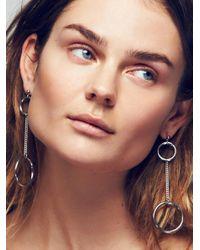 Free People | Metallic Solene Hoop Pendulum Earrings | Lyst