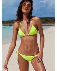 Free People   Multicolor Solid Tie Side Bottoms Simply Triangle Top   Lyst