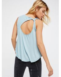 Free People | Blue Solitaire Top | Lyst