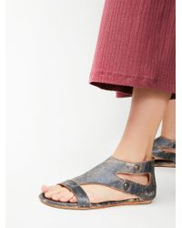 Free People | Multicolor Soto Washed Leather Sandal | Lyst