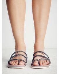 Free People - Gray Sprinkles Footbed - Lyst