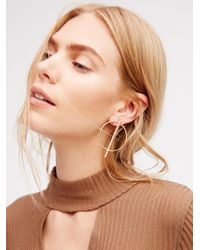 Free People - Multicolor Straight Through Hoops - Lyst