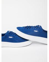 Free People | Blue Suede Platform Sneaker | Lyst