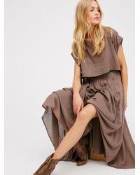 Free People Multicolor Sundown Skirt Co-ord
