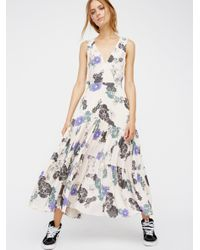 Free People | White Sure Thing Printed Maxi Dress | Lyst